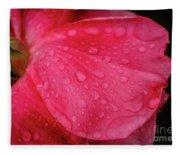 Wet Rose Petal Fleece Blanket