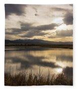Wetlands At Dusk Fleece Blanket
