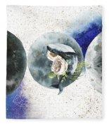 Whale Goddess Fleece Blanket by Bee-Bee Deigner