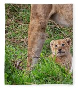 What Could Be Cuter Than A Baby Lion Cub? Fleece Blanket