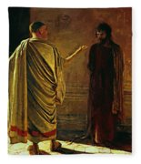 What Is Truth Christ And Pilate Fleece Blanket