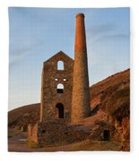 Wheal Coates Mine Chapel Porth Cornwall Fleece Blanket