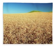 Wheat And Mounds Fleece Blanket
