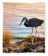 Wheeler Oregon - Great Blue Heron Fleece Blanket
