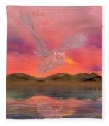 When Little Piggies Fly Fleece Blanket