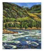 Where Waters Meet 3 Fleece Blanket