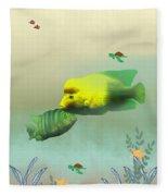 Whimsical Fish Fleece Blanket