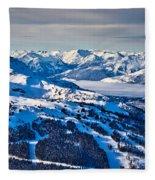 Whistler In Winter Fleece Blanket