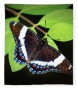 White Admiral Butterfly Fleece Blanket