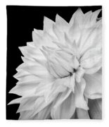 White Dahlia Fleece Blanket
