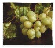 White Grapes Fleece Blanket