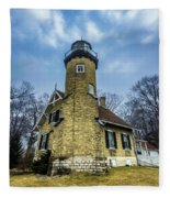 White River Lighthouse Fleece Blanket