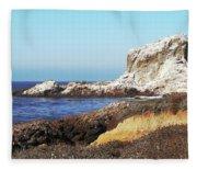 The White Rocks Of Piedras Blancas Fleece Blanket
