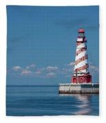 White Shoal Lighthouse 20 Fleece Blanket