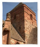 Whitekirk 12th Century Church Tower In East Lothian Fleece Blanket
