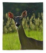 Whitetail Doe Fleece Blanket