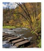 Whitewater River Scene 55 C Fleece Blanket