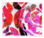 Wild Vibrancy Fleece Blanket