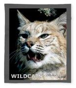 Wildcats Mascot 2 Fleece Blanket