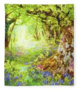 Wildflower Delight Fleece Blanket