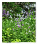 Wildflowers On Green's Hills Fleece Blanket