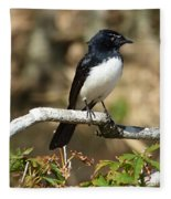 Willy Wagtail #2 Fleece Blanket