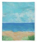 Windy Day At Lowdermilk Beach Fleece Blanket