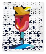 Wine And Matzo- Art By Linda Woods Fleece Blanket