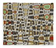 Wine Corks At An Angle Abstract Fleece Blanket