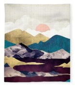Wine Lake Fleece Blanket
