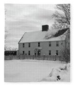 Winter At Noyes House Fleece Blanket