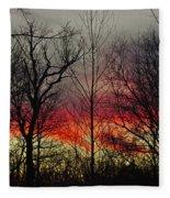 Winter Evening Fleece Blanket
