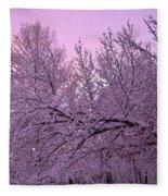 Winter In New England Fleece Blanket