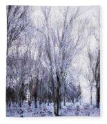 Winter Lace Fleece Blanket