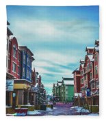 Winter Morning - Park City, Utah Fleece Blanket