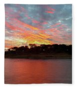 Winter Morning Sky Fleece Blanket