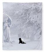 Winter Solstice Holiday Card Fleece Blanket