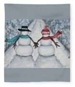 Winter Stroll Fleece Blanket