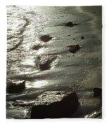 Winter Sun On The Tide Fleece Blanket