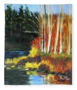 Winter Sunshine Landscape Fleece Blanket