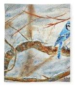 Winter Tree Hugger Fleece Blanket