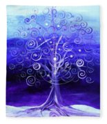 Winter Tree One Fleece Blanket