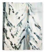 Winter Trees #4 Fleece Blanket