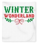 Winter Wonderland Christmas Secret Santa Snowing On Christmas Fleece Blanket