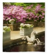 Winterthur Spring Pond Fleece Blanket