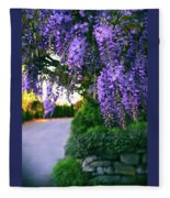 Wisteria At Sunset Fleece Blanket