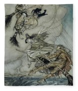 Witches, 1907 Fleece Blanket