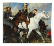 With The York And Ainsty, The Children Of Mr Edward Lycett Green Fleece Blanket
