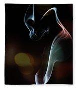 Wolf Cub - Smoke Photography Fleece Blanket