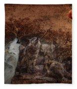 Wolf Moon Fleece Blanket